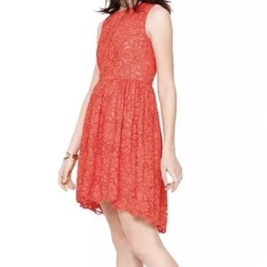 Kate Spade ♠️ coral lace high low dress nwt